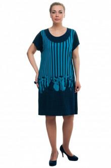 """Платье """"Олси"""" 1605036/3 ОЛСИ (Бирюза)"""