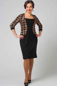 """Платье """"СКС"""" 7470/5 (Черный/леопард)"""