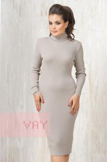 Платье женское 2236 Фемина (Темно-бежевый)
