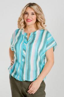 Блуза 885 Luxury Plus (Голубой)